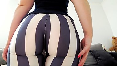 Fuck through leggings