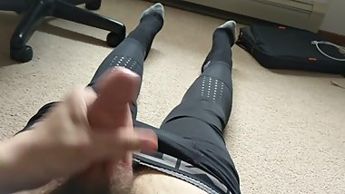 Young Male Teen Jerking Off In Compression Pants