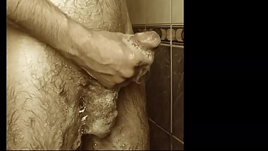 Just washing my white cock !