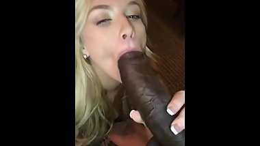 Tiny Blonde College Girl Takes On Big Black Cock