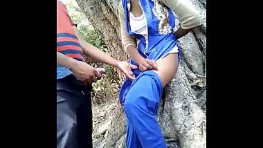 Indian lovers having sex in public