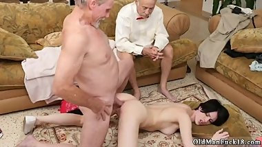 Teen gangbang orgasm Frannkie goes down the Hersey highway