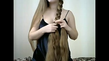 Fantastic Long Haired Hairplay, Striptease and Brushing, Long Hair, Hair