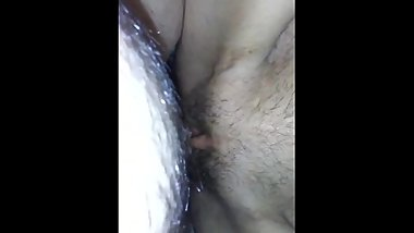 Thin sexy wet puss. Hear her squishing on a big cock for a quick explosion