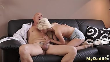 Old man fucks big tits milf Horny blond wants to try someone tiny bit