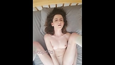 petite anal masturbation with big dildo