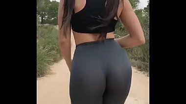 Big beautiful ass in nice leggings on pubblic