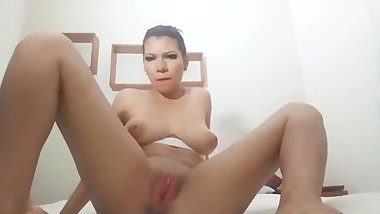 Spanish JOI Busty Teen in White Tutu with Pink Pussy Jacks Off Papi