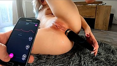 Anal Play With Big Toy In My Ass! Amazing Vibrations!  Alice Margo