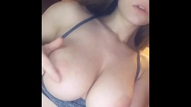 Bootybabetj big natural boobs and sucking fingers