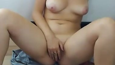 Masturbation on floor Solo Blonde