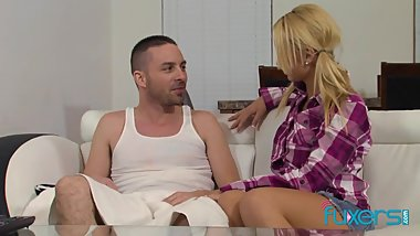 Emily Austin fucks stepdaddy