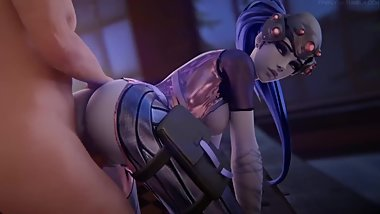Widowmaker Hardcore FUCK by Huge Cock  Overwatch NEW Video Game