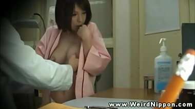 Beautiful woman Secret filming Big tits hospital orgasm
