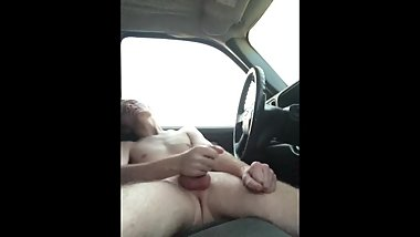 First time jerking off in a car.