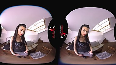 StockingsVR - Secretary Striptease makes you Hot Under the Collar