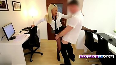 German Teen office secretary