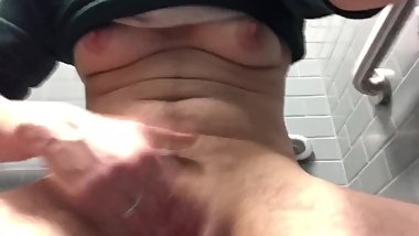 FTM Boy Pussy so Horny at Work (MEN IN BATHROOM TOO)