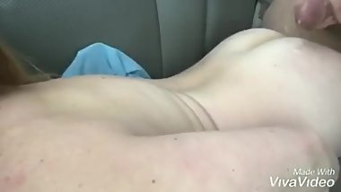 Young milf sucks and fucks