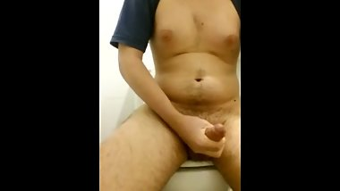 Masturbating in the office bathroom ALMOST CAUGHT (Part 1)