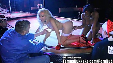 Dirty D Wild Christmas Gangbang In Strip Club