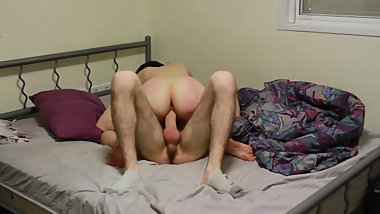Teen riding huge cock