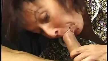 Cheering up granny with a big cock