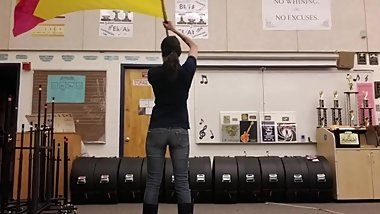 Slim Band Teacher Dancing Candid Ass in Tight Jeans