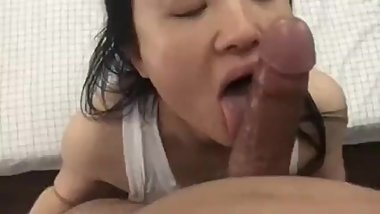 hot asian gf pov blowjob and cumshot