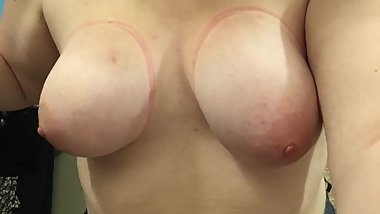 18 Year Old BBW Punishing Her Tits