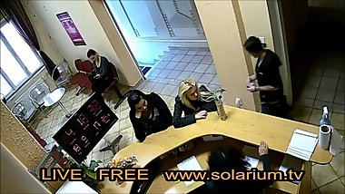 Blond Teenager filmed with hidden Camera in Solarium