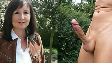 Mom fucked outdoor in the ass by boy lover