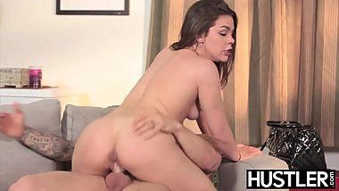Young babe Kimber Woods fucked hard while waiting TV repair
