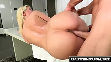 Reality Kings - Anikka Albrite gets nude on the kitchen table and filled up