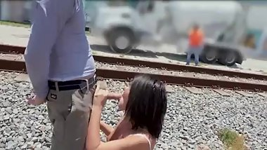 Adriana Chechik - Public anal and deepthroat before receiving a giant load