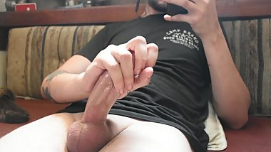 HUGE Cumshot After Three Days in Chastity Twink Jacks Off