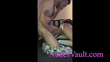Horny blonde gets fucked in a rough gangbang