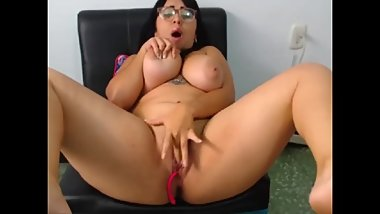 Hot BBW Camgirl wetxbunny Orgasms Live On Chaturbate ~7/28/2018~
