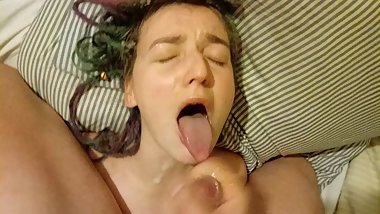 Cumshot compilation - let him cum on my face