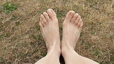 Showing Off My Feet In A Park