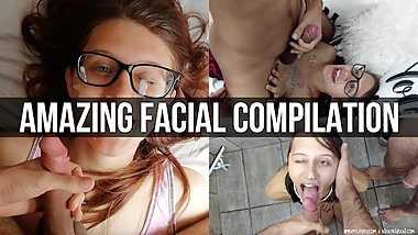 Slutty Facial Compilation #1