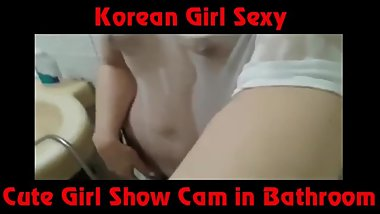 Beatiful Girl Asia Teen - Cute Girl Korean Show Cam in Bathroom