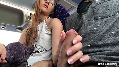 Real Public Bus Girl Swallows My Cum